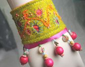 waterrose embroidered cuff- lovely indeed.