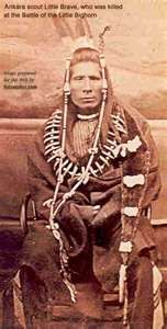 """Little Brave"" Arikara Scout for the 7th Calvary. Little Brave was killed at the Battle of the Little Big Horn."