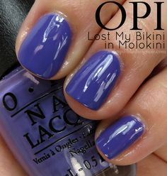OPI Lost My Bikini in Molokini Nail Polish Swatches // Hawaii Collection for Spring 2015