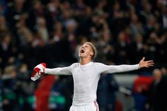 Viktor Fischer Photos Photos - Viktor Fischer of Ajax celebrates victory after the UEFA Champions League Group H match between Ajax Amsterdam and FC Barcelona at Amsterdam Arena on November 26, 2013 in Amsterdam, Netherlands. - Ajax Amsterdam v FC Barcelona