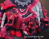 """Version """"Jeanne MAS"""" pour ce chauffe épaules free form au crochet"""
