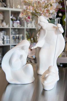 Nativity Scene White Ceramic - Design Inn, Tasmania