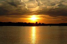 Mississippi River From Davenport, Iowa