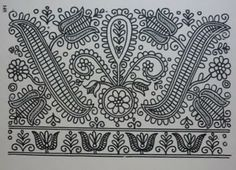 Hungarian Embroidery Patterns parna vintage linen and hemp: Hungarian Embroidery Kalotaszeg Hungarian Embroidery, Folk Embroidery, Learn Embroidery, Chain Stitch Embroidery, Embroidery Stitches, Embroidery Patterns, Stitch Head, Textiles, Embroidery Techniques