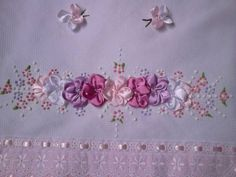 bordado com fitas borboletas