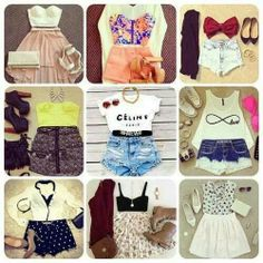 Cute fashion  for summer even thoug it is fall/winter its still okay to plan