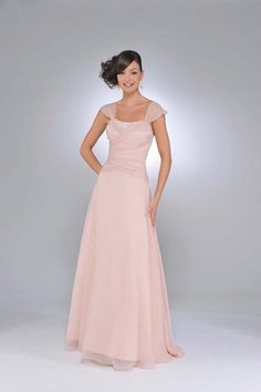 You can wear a bridesmaids dress for your wedding dress... save money. great for older bride who has to pay for her own dress. Chiffon A-Line Soft Sweetheart Neckline Cap Straps Floor Length Bridesmaid Dress