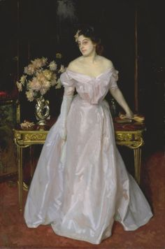 John Singer Sargent. Hylda, Daughter of Asher and Mrs Wertheimer 1901. Hylda was the third daughter of the wealthy art dealer Asher Wertheimer, who had commissioned Sargent to paint twelve portraits of his family. Sargent''s reputation ensured that such portraits were a token of wealth and social standing. The portrait of Hylda is in the grand manner of the old masters, and great care is given to the depiction of the different luxurious textures of her clothing.