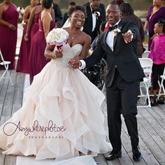 Loving the joy in this photo  // #Repost @anywherephotoz  Tish @geauxmrscrawford and Elliot @theonlyewc_ had me in smiles for their entire wedding day! They are hands down the most hilarious couple! Check out this shot as they walk away as Mr & Mrs Crawford for the first time. Big Thank you to @mikeaw73 for assisting. #weddingphotography #anywherephotozphotography #anywherephotoz #love #marriage #lovebirds #weddingphotography #batonrougephotography #whoseyourphotographer #blacklove…