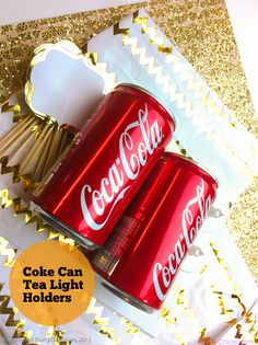 Light up New Years Day with these Coca-Cola tea light holders. Our partner Kathy shows us how.