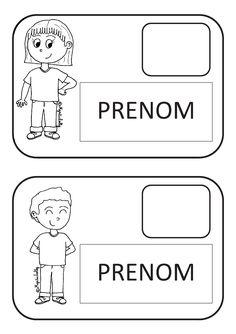 Des étiquettes à imprimer pour le portemanteau des élèves de maternelle.