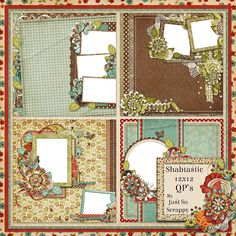 Shabtastic Digital Scrapbook Kit 12x12 Quick by JssScrapBoutique, $2.99