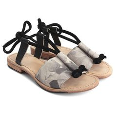0ef60450ee1b Leather tie-up sandal ( 239) ❤ liked on Polyvore featuring shoes