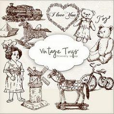 Graphic Design - Graphic Design Ideas  - New Freebies Kit vintage toys   Graphic Design Ideas :     – Picture :     – Description  New Freebies Kit vintage toys  -Read More –