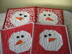 Not-so-Plain Jane: Snowman Mug Rug Tutorial