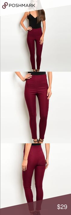 Coming soon. Fitted waist zip closure skinny pants.  Fabric Content: 74% RAYON 22% NYLON 4% SPANDEX  ❌Trades ✅ Price Firm ✴️ Bundles Save 20% 💟 Also available in Olive Pants Skinny