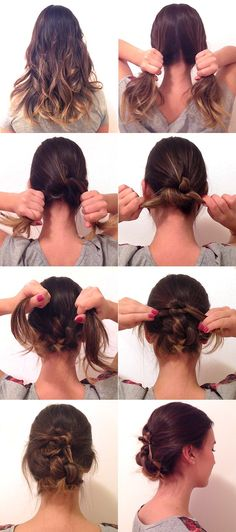 Passo a passo: coque bagunçado em cinco minutos Hair Band, Updos, Easy Updo, Hairstyle, Prom Ideas, Beautiful, Fashion, Party Hairstyles, Messy Bun Updo