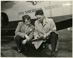 Left to right: Anesia Pinheiro Machado (1904-1999) and Donald Dionne | Flickr - Photo Sharing!Subject: Machado, Anesia Pinheiro 1902-1999        Dionne, Donald        Brazil Air Force        Pan American World Airways, Inc  Type: Black-and-white photographs  Date: 1948