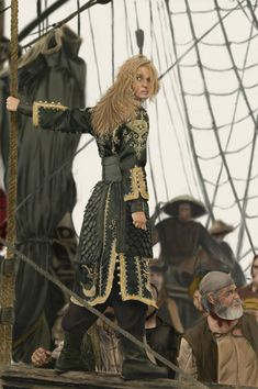 Elizabeth Swann : Pirate King by ~thesadpencil on deviantART Johnny Depp, Pirate Queen, Captain Jack Sparrow, Dapper Day, Pirate Life, Keira Knightley, Pirates Of The Caribbean, Disney Cartoons, Cute Woman