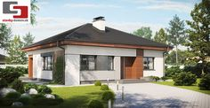 Dom w budowie Small House Living, Bungalow House Plans, Gazebo, Outdoor Structures, Mansions, Landscape, Architecture, House Styles, Outdoor Decor