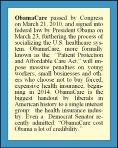 ObamaCare==But you forgot the best part. The part where the rest of Affordable Care Act is about you giving up your Constitution and The Bill of Rights. Do I hear dictatorship in anybodies mind?  This bill was touted as Health Care Reform to get all involved, but not one elected official has EVEN brought this up in confrontation to Obama nor Americans.  This is only the tip of the iceburg.  It is a lot more than even this.  Stand your ground America!!