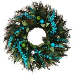 Preserved Peacock Jingles Wreath - this would be fun to make