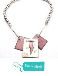 Pink Lightning Bolt Choker Necklace 20 Inch from Tala Kay Studio https://www.amazon.com/dp/B01N5XQGLX/ref=hnd_sw_r_pi_dp_Ra4RybYX0Y1FQ #handmadeatamazon