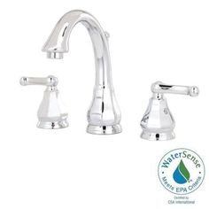Dazzle 8 in. Widespread 2-Handle High-Arc Bathroom Faucet in Polished Chrome