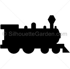 Train silhouette clip art. Download free versions of the image in EPS, JPG, PDF, PNG, and SVG formats at http://silhouettegarden.com/download/train-silhouette/