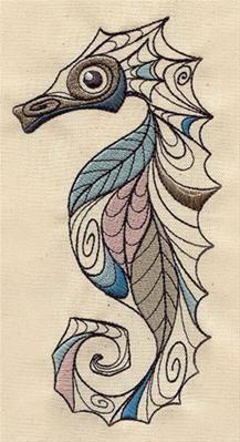 seahorse machine embroidery designs - Google Search