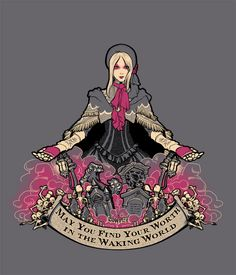 My new shirt based on Bloodborne's Plain Doll! She's so pretty and has a really cool accent. Also her reactions to your emotes!!!  Grab the shirt here sharkrobot.com/products/the-do&helli...