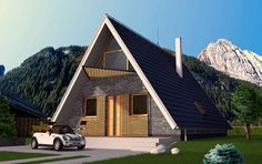 Typový dům Na hory od APEX ARCH s.r.o. Cabin, House Styles, Home Decor, Decoration Home, Room Decor, Cabins, Cottage, Home Interior Design, Wooden Houses