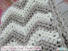 Free Chevron Infinity Scarf Crochet Pattern   Seattle Lifestyle Blog #crochet #free #pattern