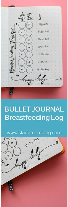 Bullet Journal Ideas Breastfeeding Log Tracker