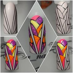 """If you're unfamiliar with nail trends and you hear the words """"coffin nails,"""" what comes to mind? It's not nails with coffins drawn on them. It's long nails with a square tip, and the look has. Nailart, Summer Toe Nails, Geometric Nail, Nail Patterns, French Tip Nails, Best Nail Art Designs, Arte Floral, Nail Tutorials, Cool Nail Art"""