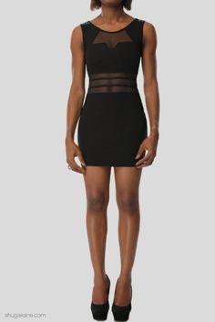 Geometric Cut Mesh Panel Dress   SHUGAKANE Panel Dress, Mesh Panel, Online Shopping, Black, Dresses, Fashion, Vestidos, Moda, Net Shopping