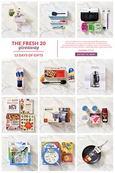 """Enter to win 1 of 12 amazing giveaways. Prizes include: * Dreamfarm spatula set * Le Creuset Utensil Set * Crunch a Color Lunch Pack * Analon 2 Quart Saucepan * Curious Chef Kid's Cooking Sets * Summer BBQ Pack * Erin Condron Custom Recipe Card Box * Yoga Kids Game Pack * Coffee & Mug Package * Analon French 12"""" skillet * Melissa's Cookbook Set * KitchenAid Magnetic Drive Torrent Blender"""