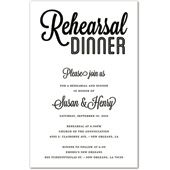 Formal Rehearsal Dinner Invitations, Modern White Rehearsal Dinner Simple Script, 29586