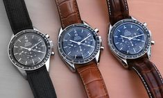 Wow! Great comparison shot! Omega Speedmaster Professional 105.003, 145.012, 145.022