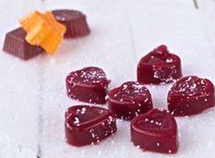 Gelatine di rapa rossa e di arancia