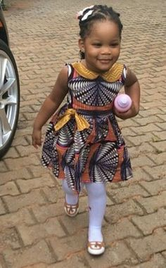 kids in print See Her Unique Ankara Style - Reny styles Ankara Styles For Kids, African Dresses For Kids, African Children, African Print Dresses, African Wear, African Attire, African Fashion Dresses, African Women, Ankara Fashion