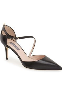 Free shipping and returns on SJP 'Luce' Asymmetrical Strap d'Orsay Pump (Women) at Nordstrom.com. A teardrop cutoutdetails the back of a graceful d'Orsay pump styled by a slender asymmetrical strap and a pointed toe.