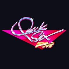 #typography #80s #neon #quicksexfm