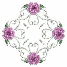 Pearl Roses Quilt 8, 5 - 3 Sizes! | What's New | Machine Embroidery Designs | SWAKembroidery.com Ace Points Embroidery