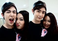 2PM's Nichkhun Takes Cute Selcas with His Sister