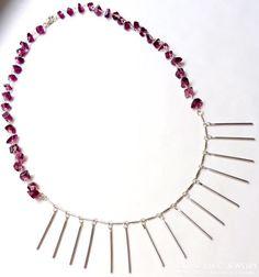 Silver & Amethyst colored glass. LEXYAiR I.N.C. JEWELRY #SS2015 at www.lexyairinc.com  #fashion #handmadejewelry