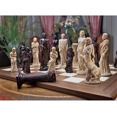 Gods of Greek Mythology Chess Set: Includes Chess Pieces & Board