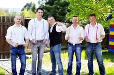 Rainbow groomsmans