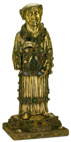 The State Hermitage Museum:  Reliquary of St.Stephen,late 12th cent. France.  Wood,silver gilt,gemstones.