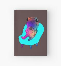'Cute, Cool, and Trippy Multicolored Cat listening to music!' Hardcover Journal by damanarora Notebooks, Journals, Journal Design, Canvas Prints, Art Prints, Listening To Music, Trippy, Graphic Tees, Cool Stuff